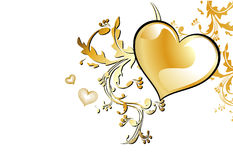 Vector love hearth. Illustration composition Royalty Free Stock Images