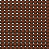 Vector Love hearts brown pattern background Stock Photo