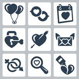 Vector love icons set Royalty Free Stock Photos