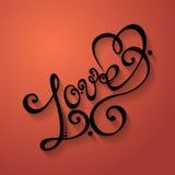 Vector Love Inscription, St. Valentine's Day Symbol Royalty Free Stock Image