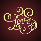 Vector Love Inscription, St. Valentine's Day Symbol Royalty Free Stock Images
