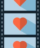 Vector love movie. Concept illustration Stock Photo