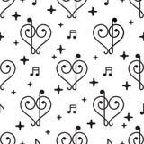 Vector Love Music Pattern royalty free illustration
