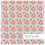 Vector love pattern. Valentines day theme Royalty Free Stock Photography