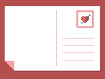 Vector love postcard Royalty Free Stock Photo