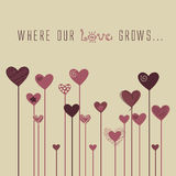 Vector Love Stylized background Stock Images