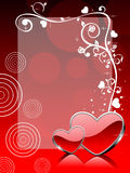Vector love theme greeting card Royalty Free Stock Image