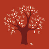 Vector love tree Stock Photo