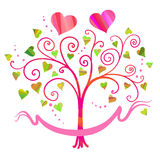 Vector love tree Stock Photography