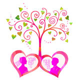 Vector love tree Stock Photography