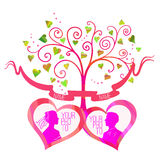 Vector love tree Royalty Free Stock Image