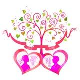 Vector love tree Royalty Free Stock Image