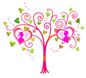 Vector love tree Royalty Free Stock Photo
