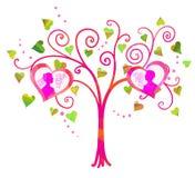 Vector love tree Royalty Free Stock Photo