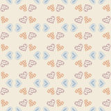 Vector love wallpaper. Seamless pattern background with hearts. Amour decoration. Celebration for Valentines day. Stock Photo