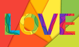 Vector Love word Stock Image