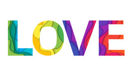 Vector Love word Stock Images