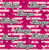Vector love you seamless pattern. Colorful love Royalty Free Stock Images