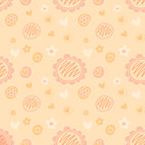 Vector lovely feminine floral background pattern in peach color Stock Photo