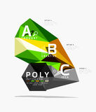 Vector low poly abstract infographics. Vector polygonal background with A B C options created with triangles for workflow layout, diagram, number options or Stock Photo