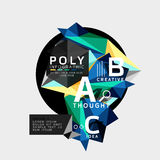 Vector low poly abstract infographics. Vector polygonal background with A B C options created with triangles for workflow layout, diagram, number options or Royalty Free Stock Photo