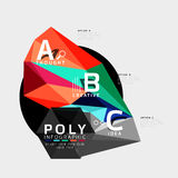 Vector low poly abstract infographics. Vector polygonal background with A B C options created with triangles for workflow layout, diagram, number options or Stock Photography