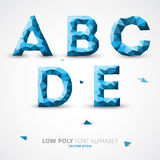 Vector low poly alphabet font Royalty Free Stock Photo