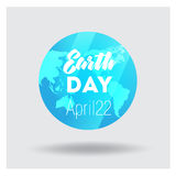 Vector Low Poly April 22 Earth Day Banner Stock Photo