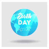 Vector Low Poly April 22 Earth Day Banner Royalty Free Stock Images