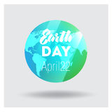 Vector Low Poly April 22 Earth Day Banner Royalty Free Stock Photos