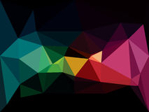Vector low poly background. Abstract dark diamond Royalty Free Stock Photo