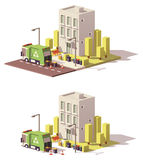 Vector low poly building icon Stock Image