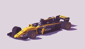 Vector low poly formula racing car stock illustration