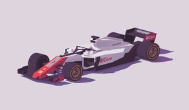 Vector low poly formula racing car Royalty Free Stock Images