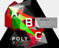 Vector low poly geometric infographics Stock Image