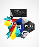 Vector low poly geometric infographics Royalty Free Stock Photo