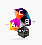 Vector low poly geometric infographics. Vector abstract low poly geometric infographics Royalty Free Stock Photography