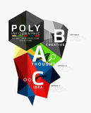 Vector low poly geometric infographics Stock Photo