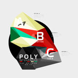 Vector low poly geometric infographics Royalty Free Stock Images
