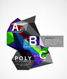 Vector low poly geometric infographics Royalty Free Stock Photos