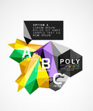 Vector low poly geometric infographics Royalty Free Stock Image