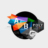 Vector low poly geometric infographics Royalty Free Stock Photography