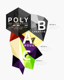 Vector low poly geometric infographics Stock Photos