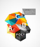 Vector low poly geometric infographics. Vector abstract low poly geometric infographics Stock Images