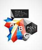 Vector low poly geometric infographics. Vector abstract low poly geometric infographics Stock Photos