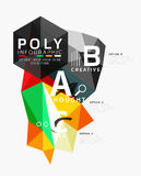 Vector low poly geometric infographics. Vector abstract low poly geometric infographics Stock Image