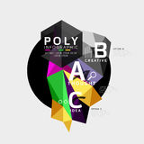 Vector low poly geometric infographics. Vector abstract low poly geometric infographics Stock Photography