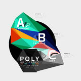Vector low poly geometric infographics. Vector abstract low poly geometric infographics Royalty Free Stock Images