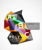 Vector low poly geometric infographics Stock Photography