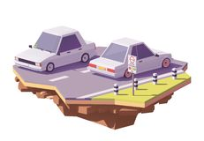 Vector low poly low-emission zone illustration Royalty Free Stock Photo
